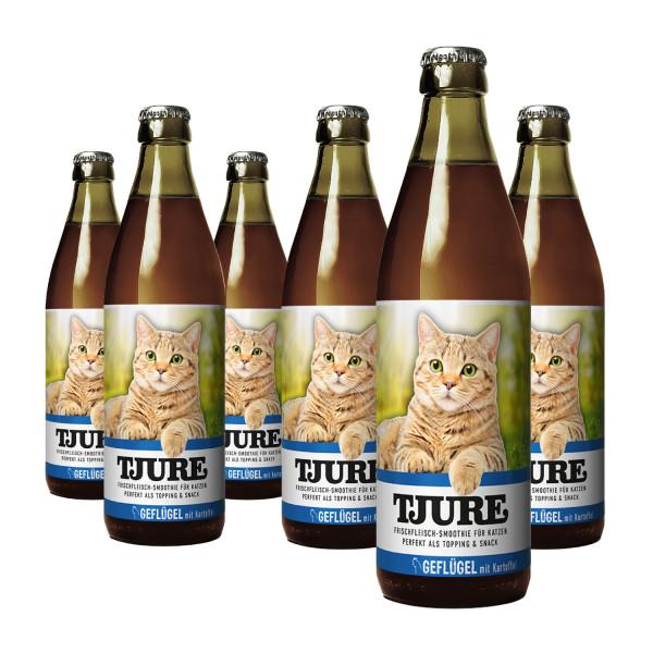"""TJURE Katze """"Geflügel"""" Six Pack 6 x 220 ml"""