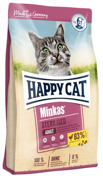 Katzenfutter Minkas Sterilised Geflügel