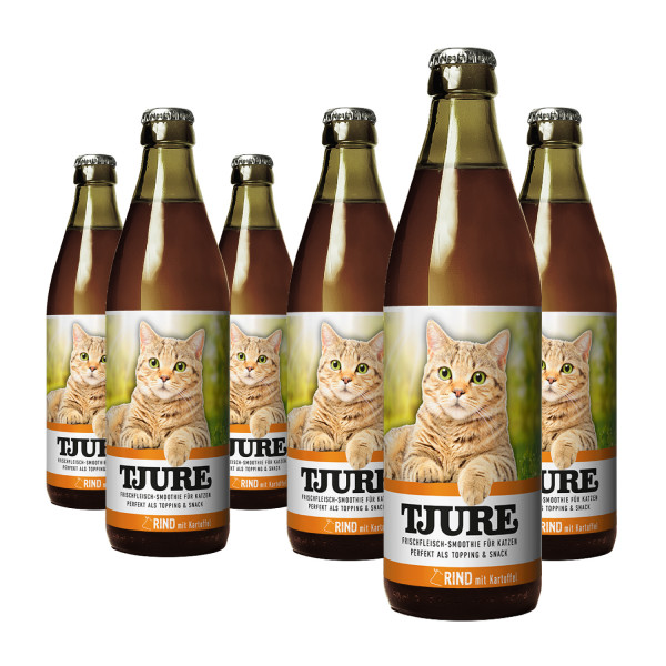 """TJURE Katze """"Rind"""" Six Pack 6 x 220 ml"""