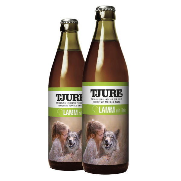 "TJURE Hund ""Lamm & Reis"" Doppelpack 2 x 320 ml"